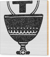 Chalice And Cross Wood Print