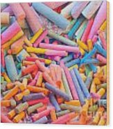 Chalk Colors Wood Print