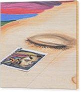 Chalk Event Eye Wood Print