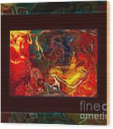 Challenges And Moments In Time Abstract Healing Art Wood Print