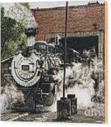 Chama Steam Wood Print