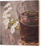 Chamomile Tea Retro Wood Print by Jane Rix
