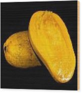 Champagne Ataulfo Mango Closeup Isolated  Wood Print