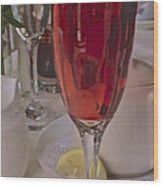 Champagne Brunch Wood Print