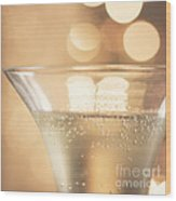 Champagne Celebration Wood Print by Kim Fearheiley