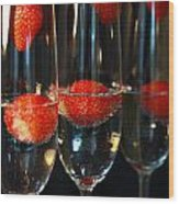 Champagne Cocktail Trio Wood Print