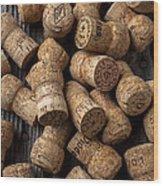 Champagne Corks Wood Print