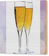Champagne In Glasses Wood Print by Elena Elisseeva