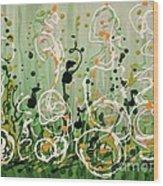 Champagne Symphony Wood Print