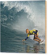 Champion At Pipeline Masters  Wood Print