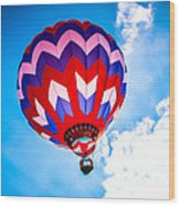 Champion Hot Air Balloon Wood Print