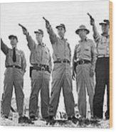 Champion Police Shooters Wood Print