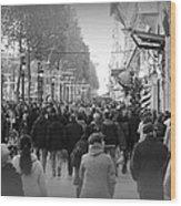 Champs Elysees Black N White Wood Print