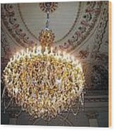 Chandelier At Palace Wood Print