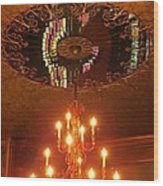 Chandelier At The Brown Palace In Denver Wood Print