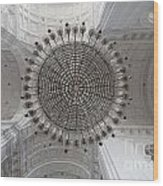 Chandelier In Goa Cathedral Wood Print