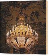Chandelier Palacio Real Wood Print