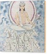 Chandra The Moon Wood Print