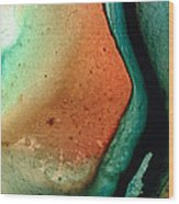 Green Abstract Art - Changing Course - Sharon Cummings Wood Print