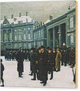 Changing Of The Guard At Amalienborg Palace Wood Print