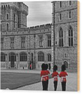 Changing Of The Guard At Windsor Castle Wood Print