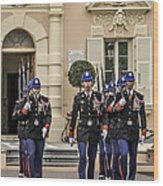 Changing Of The Guard Wood Print