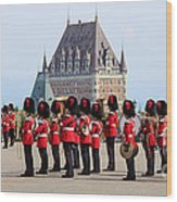 Changing Of The Guard The Citadel Quebec City Wood Print