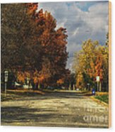 Changing To Fall Colors In Dwight Il Wood Print