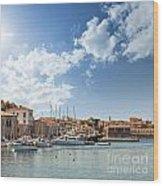 Chania Town On Crete Wood Print
