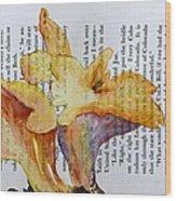 Chanterelles Wood Print