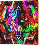 Chaos In My Mind Wood Print