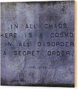 Chaos - Carl Jung Wood Print