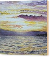 Chapala Sunset Wood Print
