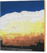 Chaparra Supercell At Sunset Wood Print