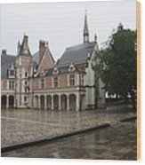 Chapel And Courtyard Chateau Blois Wood Print