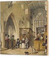 Chapel At Haddon Hall, Derbyshire Wood Print
