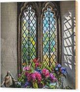 Chapel Flowers Wood Print