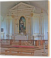 Chapel In King's Bastion In Louisbourg Living History Museum-174 Wood Print