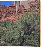 Chapel In Red Rocks Wood Print