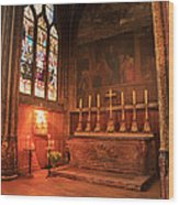 Chapel In St Severin Church Paris Wood Print
