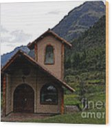 Chapel In The Cajas Wood Print