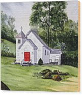 Chapel In The Mounts Wood Print
