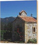 Chapel In The Vineyard Wood Print
