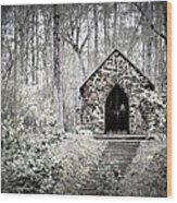 Chapel In The Woods Wood Print