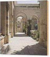 Chapel Of Condemnation Jerusalem Wood Print