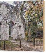 Chapel Of Ease Ruins And Mausoleum St. Helena Island South Car Wood Print