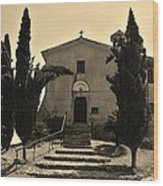 Chapel Of San Amasio Wood Print
