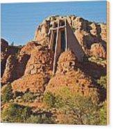 Chapel Of The Holy Cross Sedona Arizona 100 Wood Print