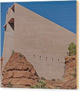 Chapel Of The Holy Cross Sedona Az Side Wood Print