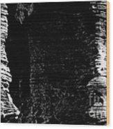 Chapel Rock Foundations Bw Wood Print